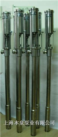 【结构和原理】   本泉fy系列气动插桶泵采用气压差