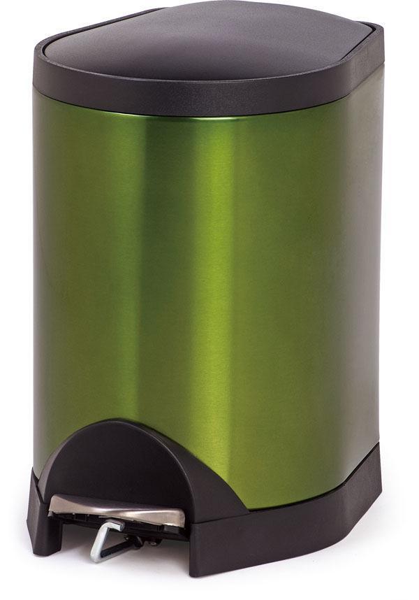 脚踏垃圾桶-透明红