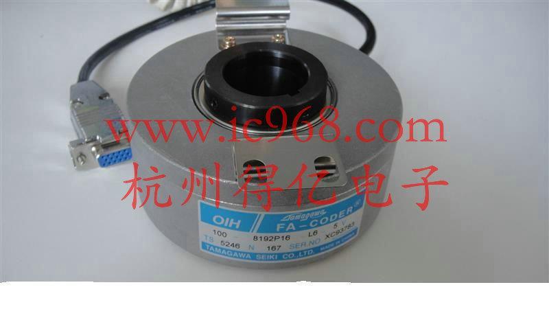 多摩川电梯编码器100-8192P16-L6-5V 型号TS5246N167 大连星玛、航天万源、蓝光奥的斯、广州广日用多摩川编码器:TS5246N167 100-8192P16-L6-5V 型号TS5246N167 外径:100mm, 内孔:30mm, 键槽:4mm,弹片固定; 脉冲8192, 级数:16级, 信号输出:长线驱动输出UVWABZ,带反向信号, 电压:DC5V